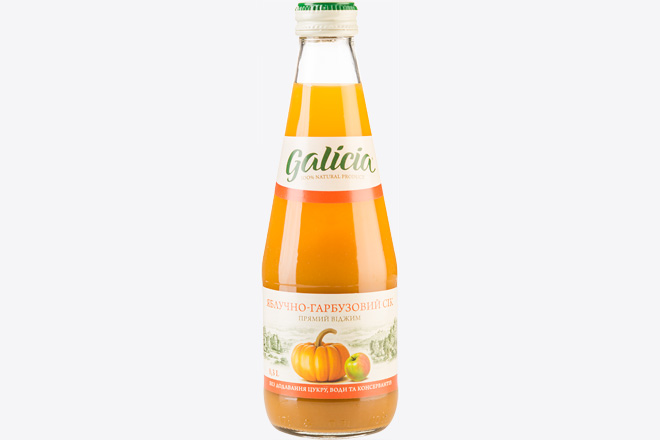 Сік яблучно-гарбузовий 0,3 л Galicia