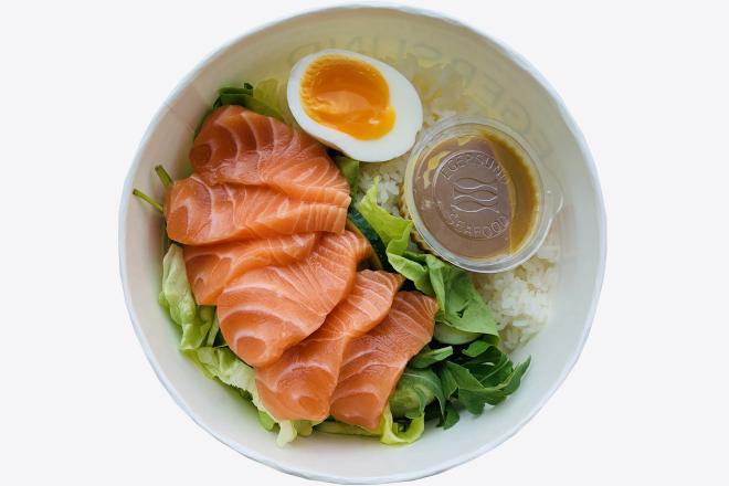Bowl з лососем та рисом