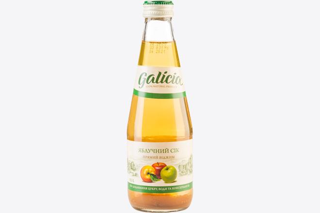 Сік яблучний 0,3 л Galicia