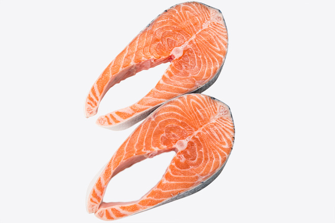 Photo Salmon steak chilled