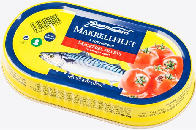 Філе скумбрії в томатному соусі (mackerel in tom.s