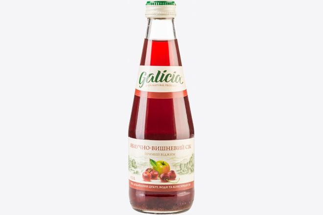 Сік яблучно-вишневий 0,3 л Galicia