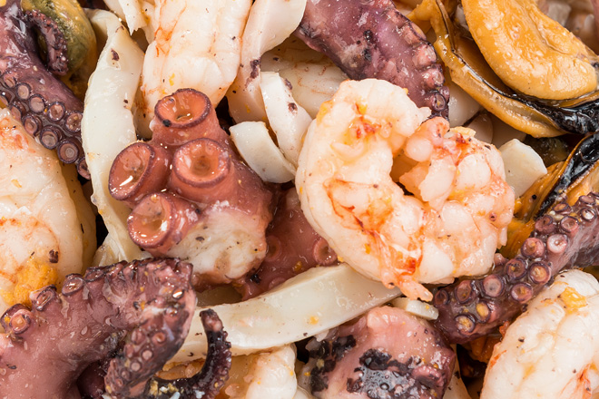 Салат асорті з морепродуктів ваг.FF