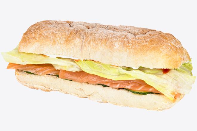 Фото Блюдо Сэндвич с лососем слабосоленым